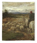 A Sussex Lane, 1872 Fleece Blanket