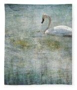 A Swan's Reverie Fleece Blanket