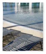 A Swimming Pool Fleece Blanket
