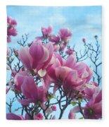 A Symphony Of Magnolia Flowers Fleece Blanket