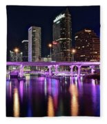 A Tampa Night Fleece Blanket