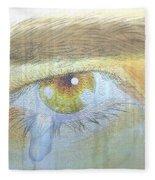 A Teardrop Kissed... Fleece Blanket