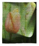 A Tiled Tullip  Fleece Blanket