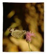 A Tilting Butterfly  Fleece Blanket