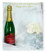 A Toast To Love And Laughter Fleece Blanket