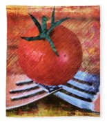 A Tomato Sketch Fleece Blanket