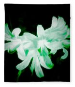 A Touch Of Green On The Lilies Fleece Blanket