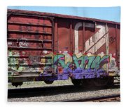 A Train Car Named Desire Fleece Blanket