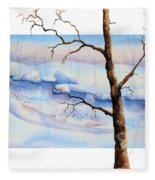 A Tree In Another Dimension Fleece Blanket
