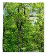 A Tree In The Woods At The Hacienda  Fleece Blanket