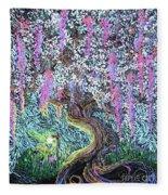 A Tree Of Many Colors Fleece Blanket