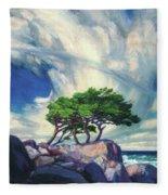 A Tree On The Seashore Reef Fleece Blanket