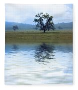 A Trees  Reflection Fleece Blanket
