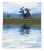 A Trees  Reflection Fleece Blanket