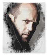 A Tribute To Jason Statham Fleece Blanket