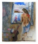 A Tribute To Salvador Dali Fleece Blanket