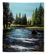 A Trip To The Mountains Fleece Blanket