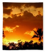 A Tropical Sunset Fleece Blanket