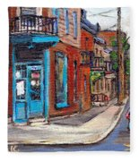 A Vendre Petits Formats L'art De Montreal Originals For Sale Wilensky's Diner Best Montreal Scenes Fleece Blanket