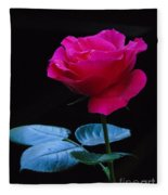 A Very Special Rose Fleece Blanket