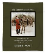A Veteran's Farewell - Ww1 Fleece Blanket