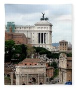 A View From Palatine Hill In Rome Italy Fleece Blanket