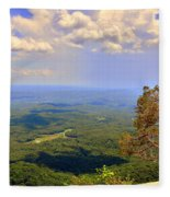 A View From Table Rock Fleece Blanket