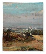 A View In Suffolk Fleece Blanket