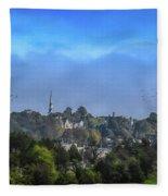 A View Of Bangor Fleece Blanket