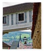 A View Of Cesky Krumlov In The Czech Republic Fleece Blanket