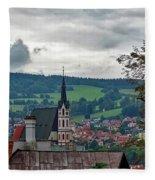 A View Of Cesky Krumlov  Fleece Blanket