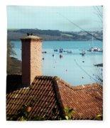 A View Of Mylor Harbour Fleece Blanket