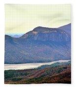 A View Of Table Rock South Carolina Fleece Blanket
