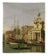A View Of The Dogana And Santa Maria Della Salute Fleece Blanket
