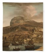 A View Of The Rock Of Gibraltar From The Spanish Lines 1782 Fleece Blanket