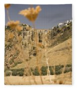 A View Of The Tajo De Ronda And Puente Nuevo Bridge Serrania De Ronda Andalucia Spain Fleece Blanket