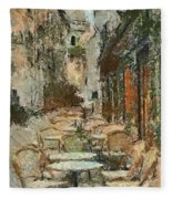 A View On The Sacre Coeur Fleece Blanket