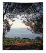 A View To The Sea Fleece Blanket