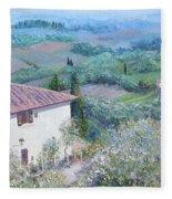 A Villa In Tuscany Fleece Blanket