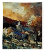 A Village In Autumn Fleece Blanket