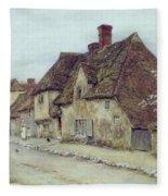 A Village Street Kent Fleece Blanket