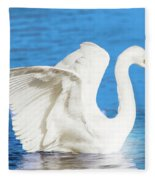 A Vision In White Fleece Blanket