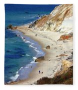 A Walk Along Aquinnah Beach Fleece Blanket