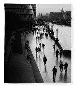 A Walk Along The Thames Fleece Blanket