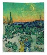 A Walk At Twilight Fleece Blanket