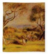 A Walk By The Sea 1915 Fleece Blanket