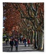 A Walk In The Park - Valencia Fleece Blanket