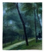 A Walk In The Woods Madame Lecoeur And Her Children 1870 Fleece Blanket