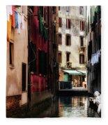 A Walk In Venice Fleece Blanket