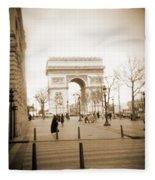 A Walk Through Paris 3 Fleece Blanket